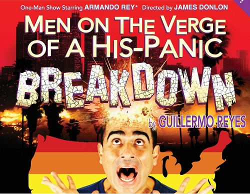 "Armando Rey presenta su monologo ""Men On The Verge of His-Panic Breakdown"""