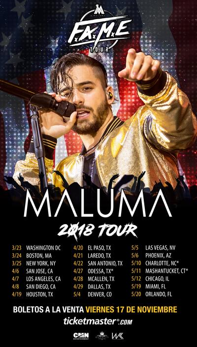 Maluma anuncia su F.A.M.E. USA Tour
