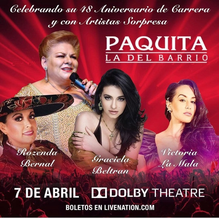 Paquita La Del Barrio en el Dolby Theatre