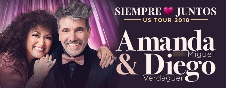 Amanda Miguel y Diego Verdaguer este viernes en The Wiltern