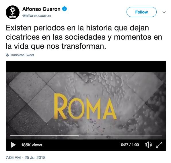 Netflix y Alfonso Cuarón nos traen 'Roma' a fin de Año