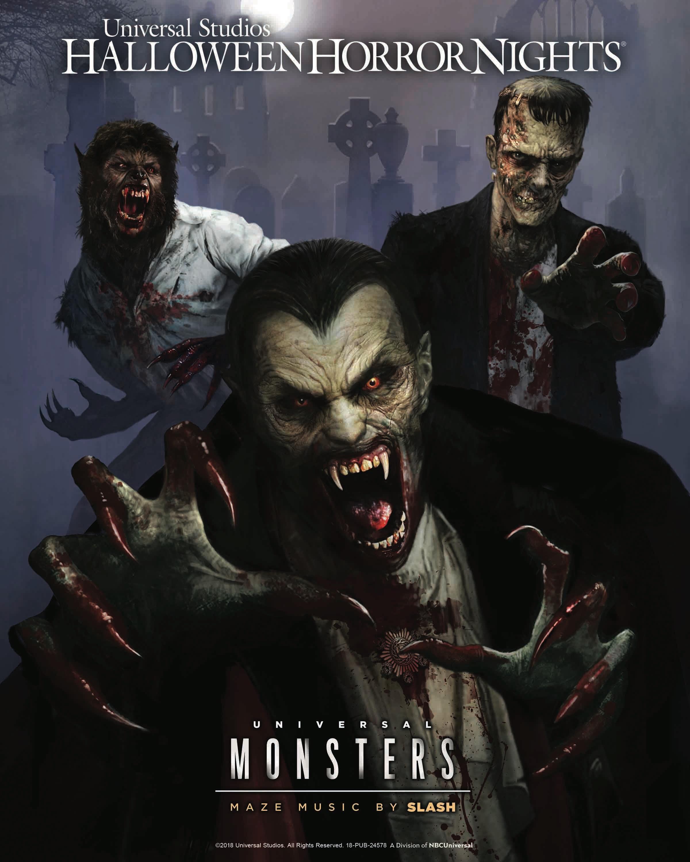 'Universal Monsters' te aterrorizarán al ritmo de Slash en el nuevo laberinto de HHN