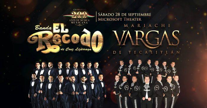 Banda El Recodo y Mariachi Vargas de Tecalitlán y su gira '200 Años de Música Mexicana'