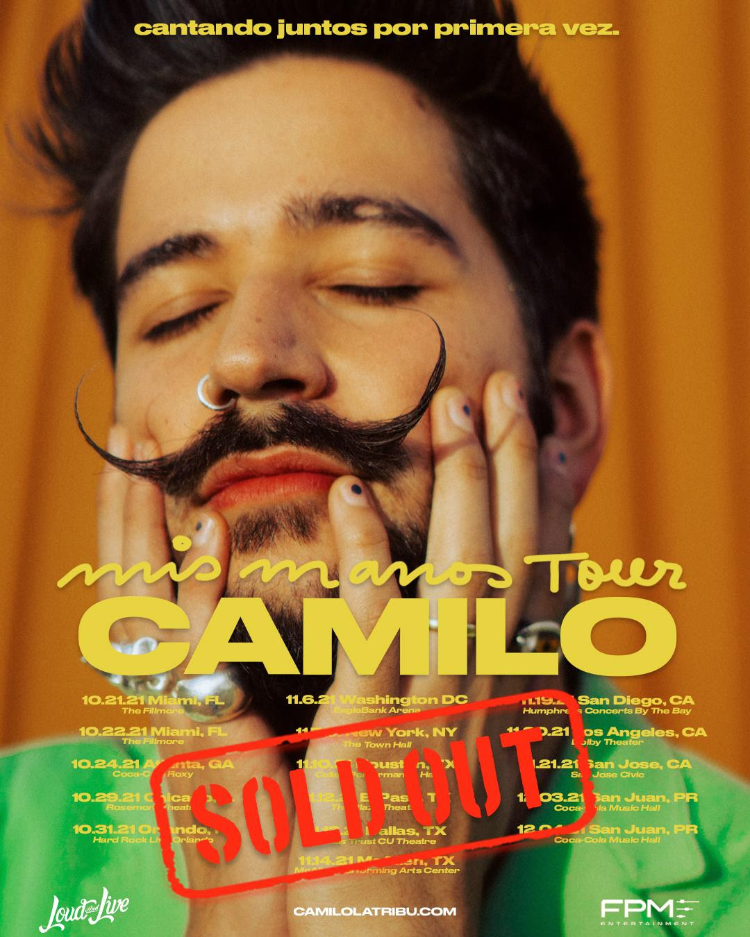 """Camilo logra agotar los boletos de su primera gira de conciertos """"Mis Manos Tour"""