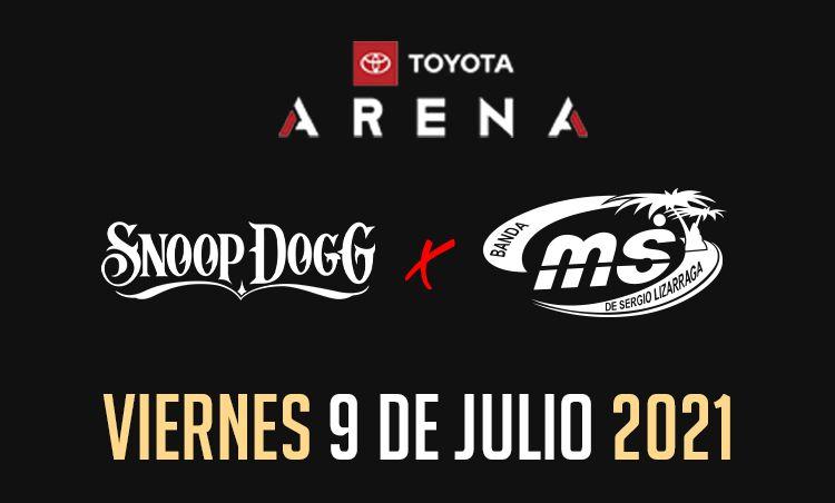 Banda MS y Snoop Dogg este 9 y 10 de julio en el Toyota Arena